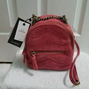 Zara Bags - Zara leather backpack (4084)